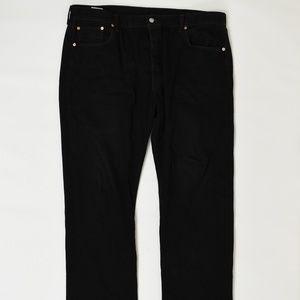 Levis Regular  Black 42x32 501 Cotton Solid
